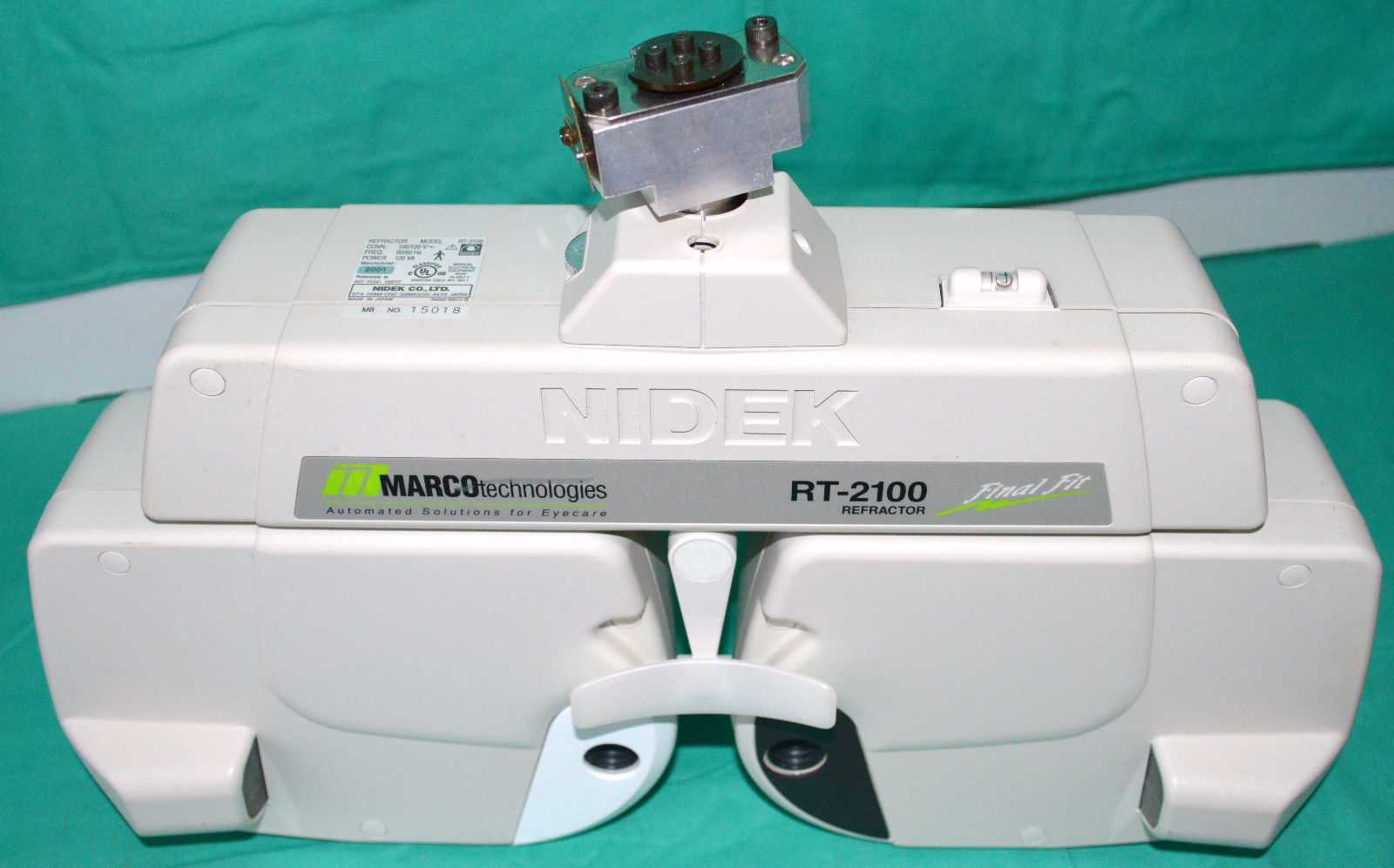Nidek Marco RT-2100 Automated Phoropter Epic Final Fit